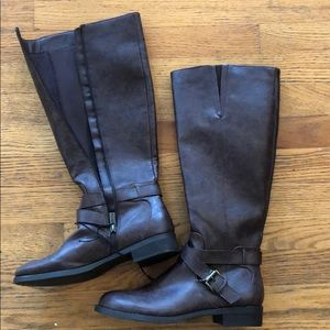 NEW Kenneth Cole Reaction Tall Leather Boots